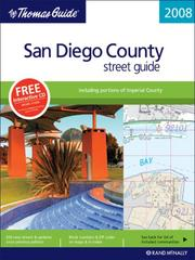 Cover of: The Thomas Guide 2008 San Diego County, California |