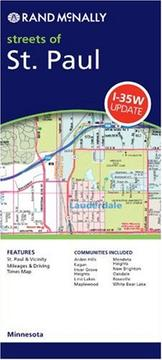 Cover of: Rand McNally St. Paul, Minnesota: Local Street Detail | Rand McNally