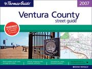 Cover of: Thomas Guide 2007 Ventura County, California (Ventura County Street Guide) |