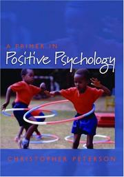 Cover of: A primer in positive psychology