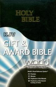 Cover of: KJV Gift & Award Bible with World