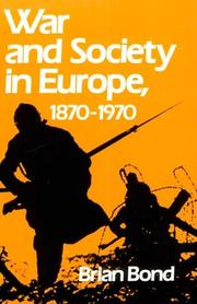 Cover of: War and society in Europe, 1870-1970