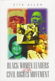 Cover of: Black women leaders of thecivil rights movement