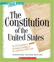 Cover of: The Constitution (True Books) |