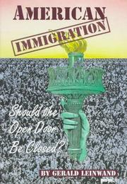 Cover of: American immigration