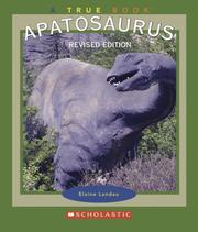 Cover of: Apatosaurus