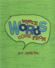 Cover of: Where Words Come From