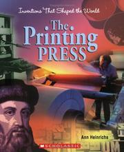 Cover of: The Printing Press (Inventions That Shaped the World)