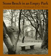 Stone bench in an empty park