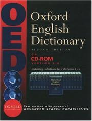Cover of: Oxford English Dictionary | John A. Simpson