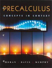 Cover of: Precalculus concepts in context | Judy Flagg Moran