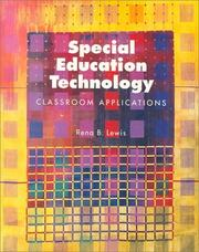 Cover of: Special education technology | Rena B. Lewis
