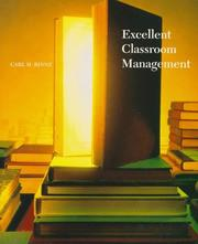 Cover of: Excellent classroom management