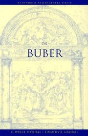 Cover of: On Buber | C. Wayne Mayhall