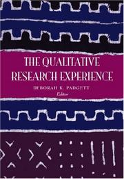 Cover of: The Qualitative Research Experience, Revised Printing | Deborah K. Padgett