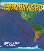 Cover of: Trigonometry for college students