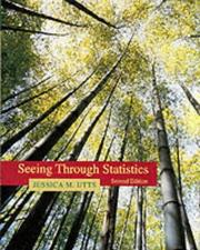Cover of: Seeing through statistics by Jessica M. Utts