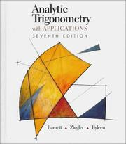 Cover of: Analytic trigonometry with applications. | Raymond A. Barnett
