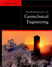Cover of: Fundamentals of geotechnical engineering