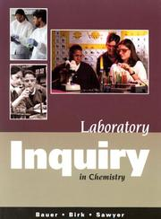 Cover of: Laboratory Inquiry in Chemistry