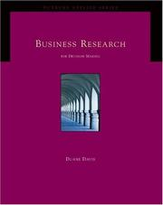Cover of: Business research for decision making