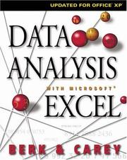 Cover of: Data analysis with Microsoft Excel