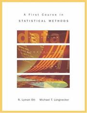 Cover of: A First Course in Statistical Methods