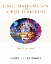 Cover of: Finite mathematics and applied calculus