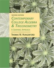 Cover of: Contemporary College Algebra and Trigonometry | Thomas W. Hungerford