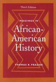 Cover of: Readings in African-American history |