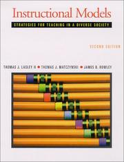 Cover of: Instructional Models | Thomas Lasley