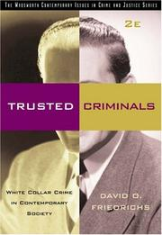 Cover of: Trusted Criminals