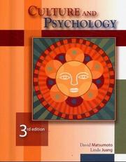 Cover of: Culture and psychology