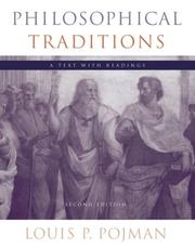 Cover of: Philosophical traditions: a text with readings