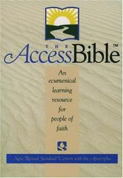 Cover of: The Access Bible, New Revised Standard Version with Apocrypha (Hardcover 9870A) |