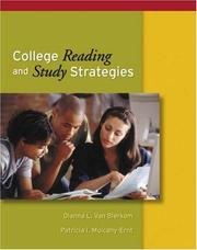 Cover of: College Reading and Study Strategies | Dianna L. Van Blerkom
