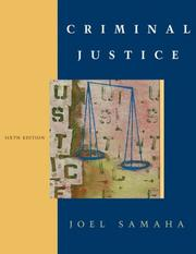 Cover of: Criminal Justice With Juvenile Justice Chapter, and Infotrac