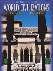Cover of: World Civilizations, Volume II