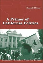Cover of: A primer of California politics