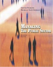 Cover of: Managing the public sector | Grover Starling