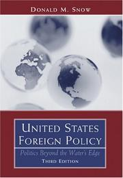 Cover of: United States foreign policy