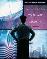 Cover of: Introduction to private security |
