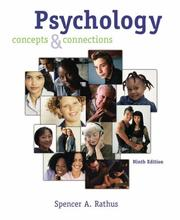 Cover of: Thomson Advantage Books: Psychology: Concepts and Connections