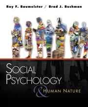 Cover of: Social psychology and human nature |