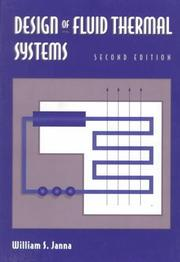 Cover of: Design of fluid thermal systems