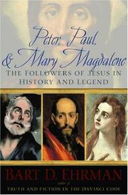 Cover of: Peter, Paul, & Mary Magdalene: The Followers of Jesus in History and Legend