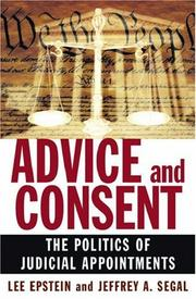 Cover of: Advice and Consent | Lee Epstein, Jeffrey A. Segal