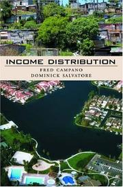 Cover of: Income distribution | Fred Campano