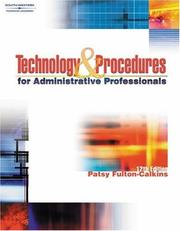 Technology & Procedures for Administrative Professionals by Patsy Fulton-Calkins