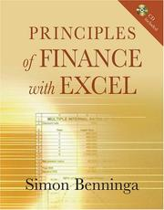Cover of: Principles of finance with Excel | Simon Benninga